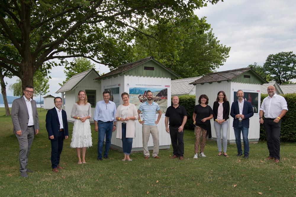 Eröffnung der Kunstausstellung der Kärntner Berufsfotograf*innen im Strandbad Klagenfurt am 16.07.2021